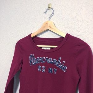 Girls Abercrombie Long Sleeve Shirt Size Large